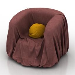 Armchair cover 3d model