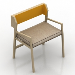 Armchair wood 3d model