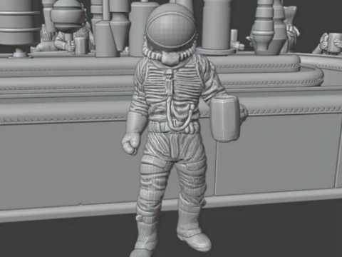 Cantina Spaceman (standing) SWL Scale Free Cantina Collab