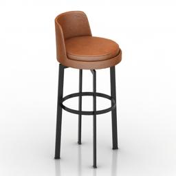 Chair bar Feel Good Stool Antonio Citterio 3d model
