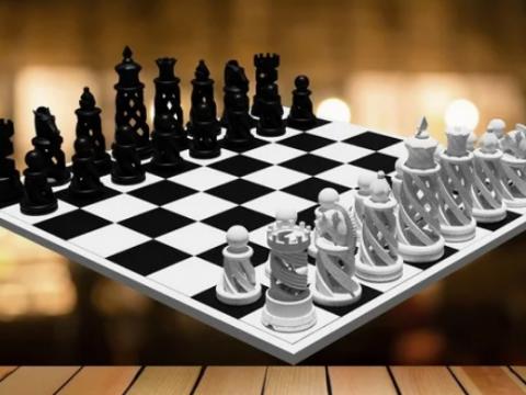 Chessboard Spiral - Complete