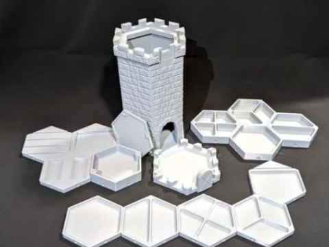 Dice Tower Vault - Store Game Trays, Dice and Coaster While Not in Use