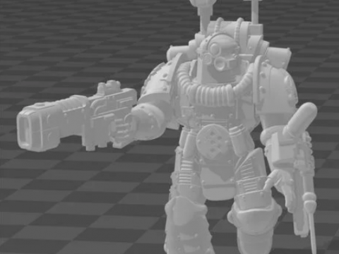 Heresy Space Medic in MK2 Armour