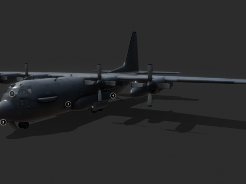 Lockheed Martin C-130 J-30 Hercules C4 Plane
