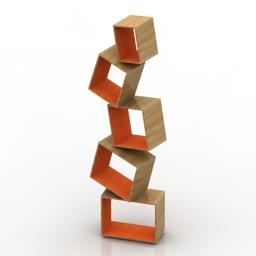Rack Equilibrium bookshelf 3d model