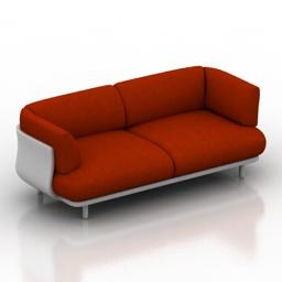 Sofa Cappellini Peg 3d model