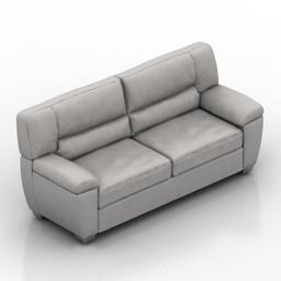 Sofa Natuzzi White 3d model