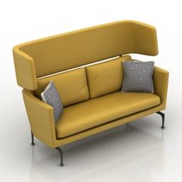 Sofa vitra suita 3d model