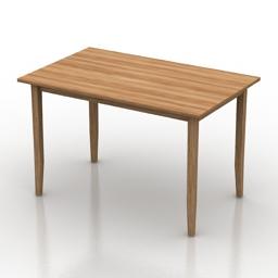 Table IKEA LERHAMN 3d model