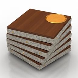 Table coffee Twist 3d model