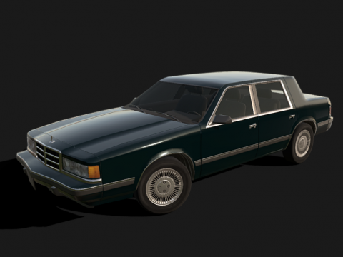 88 American Sedan - Low poly model