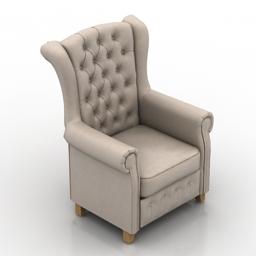 Armchair Chester 3d model
