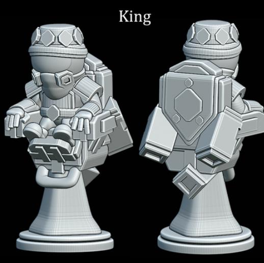 Astronaut Chess King