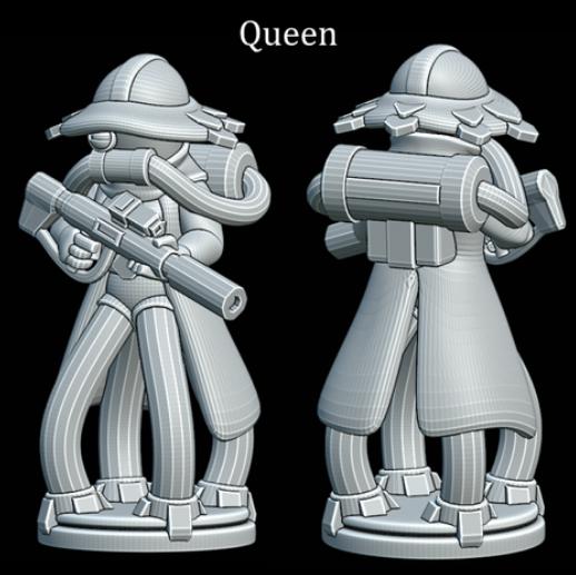 Astronaut Chess Queen
