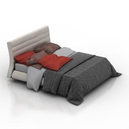 Bed Nicoline Twister 3d model