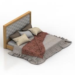 Bed classic 3d model