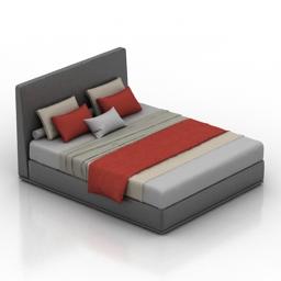 Bed minotti 3d model