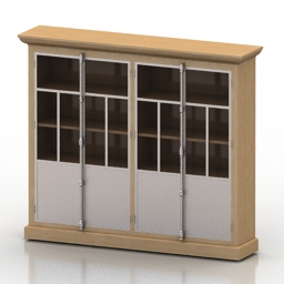 Bookcase Restomebel Vintage Bookcase Reclaimed Contemporary Collection 3d model