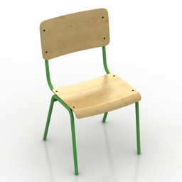 Chair School 3d model