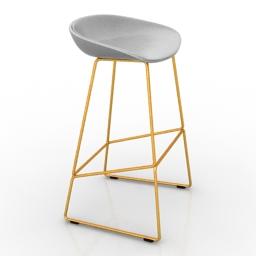 Chair bar Hay 3d model