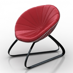 Chair round pillow 3d model