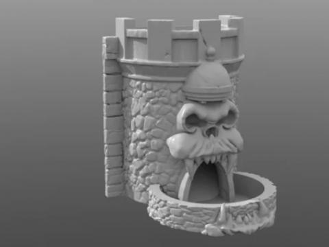 Grayskull Dice Tower single piece