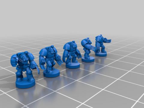 Indomitable Terminator Close Combat Squads (Basic) - 6-8mm (Remix)