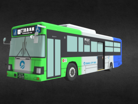 """Japanese bus """"Osaka City Bus"""" (Osaka)"""