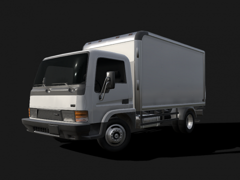 '90 Light Commercial Truck - Low poly model