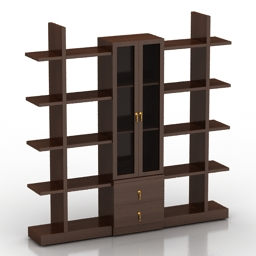 Locker Book Shelves 3d model
