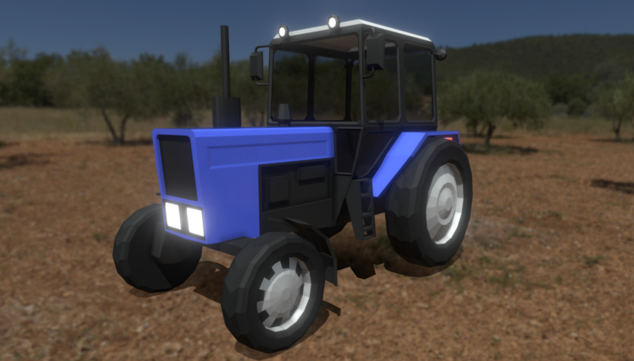 Low-poly tractor