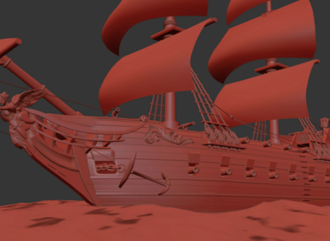 Pirate Ship Galleon for Table Top DnD
