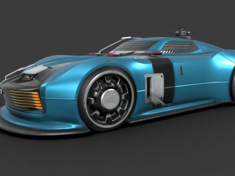 RAY - retro future cyber car