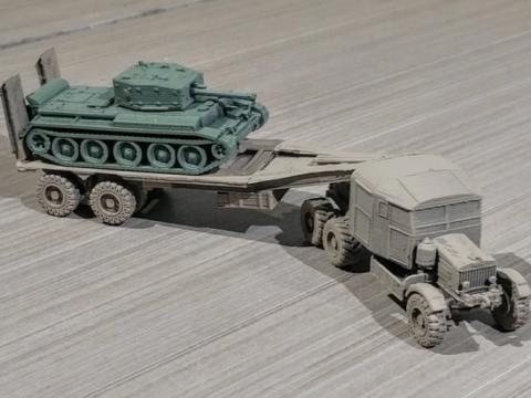 Scammell Tank Transporter easy print