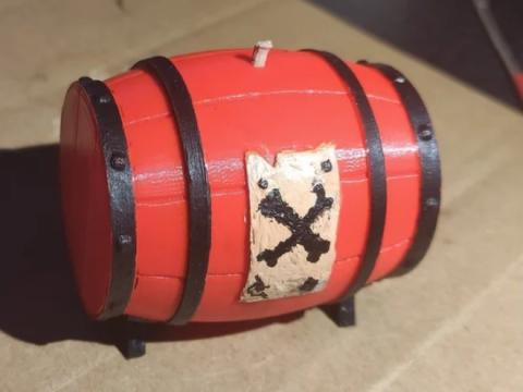 Sea of Thieves Gunpowder Barrel - Split with Registration pins