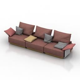Sofa CASADESUS Longplay 3d model