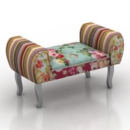 Sofa Four Hands Valence Ottoman 3d model