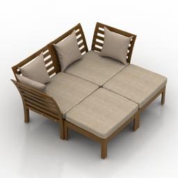 Sofa IKEA APPLARO HALLO 3d model