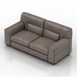 Sofa NATUZZI Agio 3d model