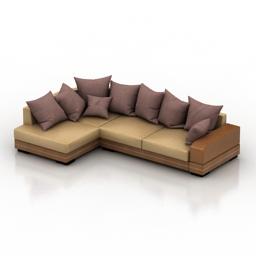 Sofa pillows 3d model