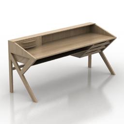 Table Ethnicraft ORIGAMI Desk 3d model