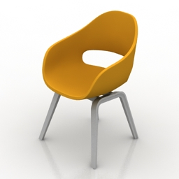 Armchair Chair Low by Hay 3d model