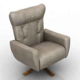 Armchair Natuzzi Edition B944 3d model