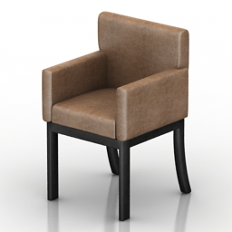 Armchair Salvador Dantone home 3d model