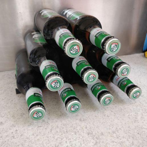 Beer Bottles rack, Bottle holder, Beer bottle rack for fridge or shelf, fridge, bottle holder