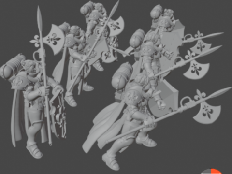 Crusaders with new weapons