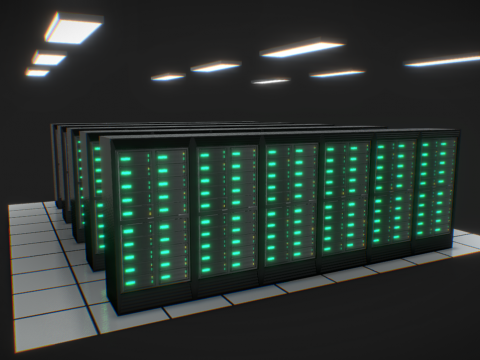 Data Center (low-poly)