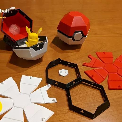 Foldable Pokeball Box Decoration