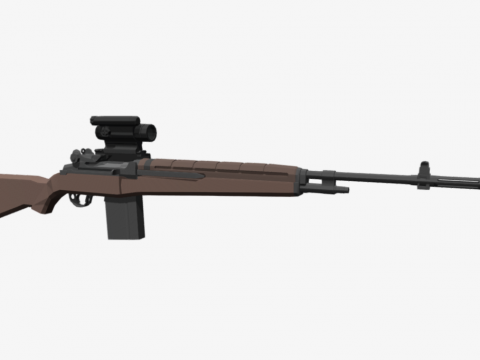 Low Poly M1A Classic