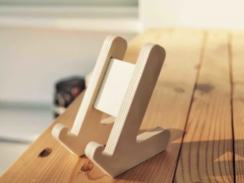 Minimalist Phone Stand for 3D Printing, CNC or Laser Cutting